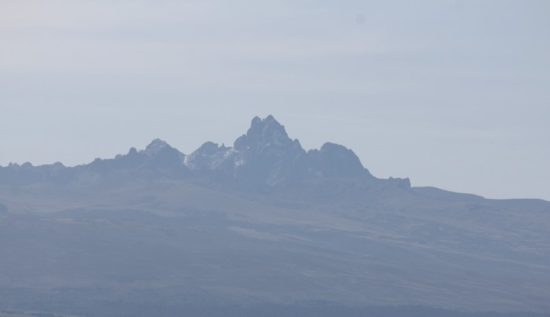 View of Mount Kenya on our way to Lolldaiga Hills Ranch.