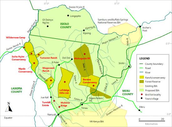 LHL IBA map - 25 Nov
